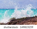 Rocky Coast Of Caribbean Sea...