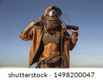 Post apocalyptic woman with...