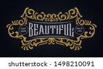 victorian ornament badge...   Shutterstock .eps vector #1498210091