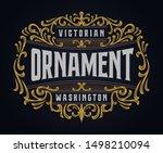 victorian ornament badge... | Shutterstock .eps vector #1498210094