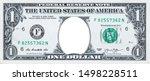 U.s. 1 Dollar Border With Empty ...