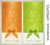 gift certificate  gift card ... | Shutterstock .eps vector #149822921