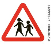 school sign  roadsign with... | Shutterstock .eps vector #149823059