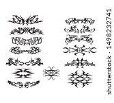 patterns of designs tribal... | Shutterstock .eps vector #1498232741