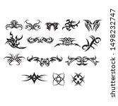 patterns of designs tribal... | Shutterstock .eps vector #1498232747