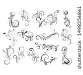floral elements collection.... | Shutterstock .eps vector #1498256861