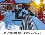 Oil And Gas Drilling Rig. Oil...