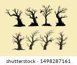 halloween spooky tree set...   Shutterstock .eps vector #1498287161