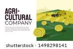 illustration of agriculture... | Shutterstock .eps vector #1498298141