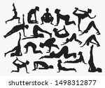 Set Of Silhouettes Of Yoga...