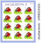 logical puzzle game for little...   Shutterstock .eps vector #1498314101