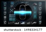 futuristic user interface. hud... | Shutterstock .eps vector #1498334177