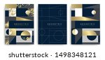 templates with elegant... | Shutterstock .eps vector #1498348121