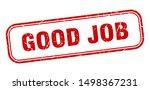 good job stamp. good job square ... | Shutterstock .eps vector #1498367231
