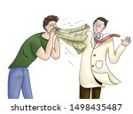 sneezing man who has common... | Shutterstock . vector #1498435487
