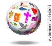 christian sign on a globe | Shutterstock . vector #149843645