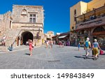 rhodes july 01  old town on... | Shutterstock . vector #149843849