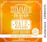 summer is over but sale just... | Shutterstock .eps vector #149844191