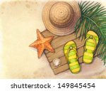 summer holiday background.... | Shutterstock . vector #149845454