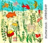 sea life illustration | Shutterstock . vector #149845649