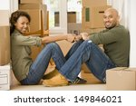 portrait of couple sitting in... | Shutterstock . vector #149846021