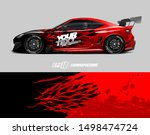 car wrap graphic. abstract...   Shutterstock .eps vector #1498474724