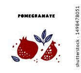 Couple Juicy Ripe Pomegranate...