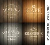bistro  cafe  brasserie and... | Shutterstock .eps vector #149847884