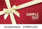 white bow on a background with... | Shutterstock .eps vector #149851241