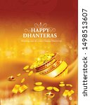 innovative design for dhanteras ... | Shutterstock .eps vector #1498513607