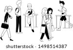 people on the street... | Shutterstock .eps vector #1498514387