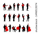 big set of musician with music... | Shutterstock .eps vector #1498515074