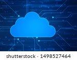2d rendering cloud computing ... | Shutterstock . vector #1498527464