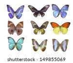 butterfly on white | Shutterstock . vector #149855069