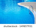 part of swimming pool with blue ... | Shutterstock . vector #149857931