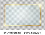 transparent gold glass banner... | Shutterstock .eps vector #1498580294