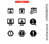 alert icon isolated sign symbol ...