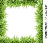 grass frame on white background ...   Shutterstock . vector #149860139