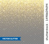 sparkling golden glitter on... | Shutterstock .eps vector #1498609694