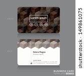 brown cube isometric business... | Shutterstock .eps vector #149861075