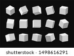 white 3d cubes pack isolated on ...   Shutterstock . vector #1498616291