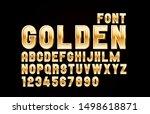 Font Golden Symbol  Gold Lette...