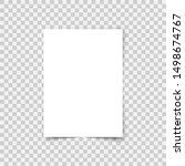 vector sheet paper a4 format... | Shutterstock .eps vector #1498674767
