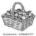 vintage sketch garden... | Shutterstock .eps vector #1498684727
