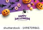 happy halloween celebration... | Shutterstock .eps vector #1498709861