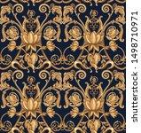 seamless baroque pattern on... | Shutterstock .eps vector #1498710971