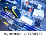 equipment for coding and... | Shutterstock . vector #1498725974