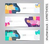 abstract banner design template ... | Shutterstock .eps vector #1498754501