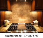 Stock photo a modern cooktop in a kitchen in an upscale luxurious american home 14987575
