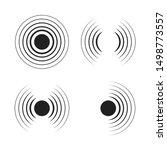 set of radar icons. sonar sound ... | Shutterstock .eps vector #1498773557